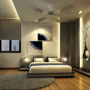 amazing bedroom hardwood floors | Plasterboard with Backlight Luxury Decoration Wood Floor ...