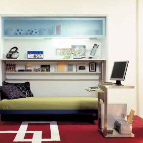 Red Teen Rooms with Small Space