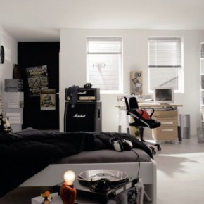 Simple Black White Cool and Trendy Teen Room Design Ideas