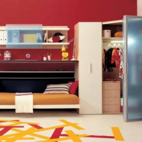 Simple RedTeen Rooms with Small Space