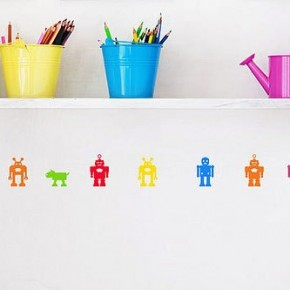 The Best Inspiration Wall Stickers All Color Robots