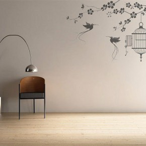 The Best Inspiration Wall Stickers Birds and Cage
