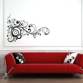 The Best Inspiration Wall Stickers Black-On White Swirls