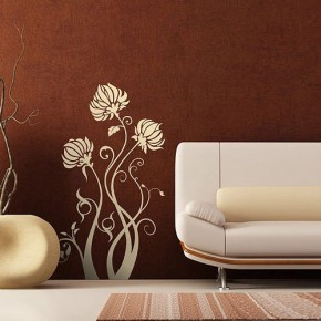 The Best Inspiration Wall Stickers Flower Brown
