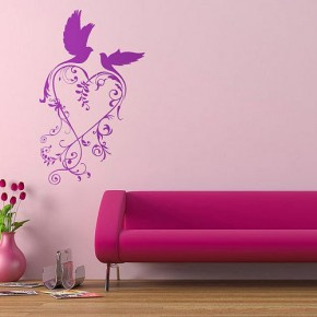 The Best Inspiration Wall Stickers Purple And Pink Birds