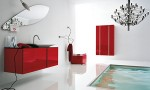 Timeless bathroom Red White