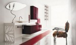 Timeless bathroom Red Cabinet