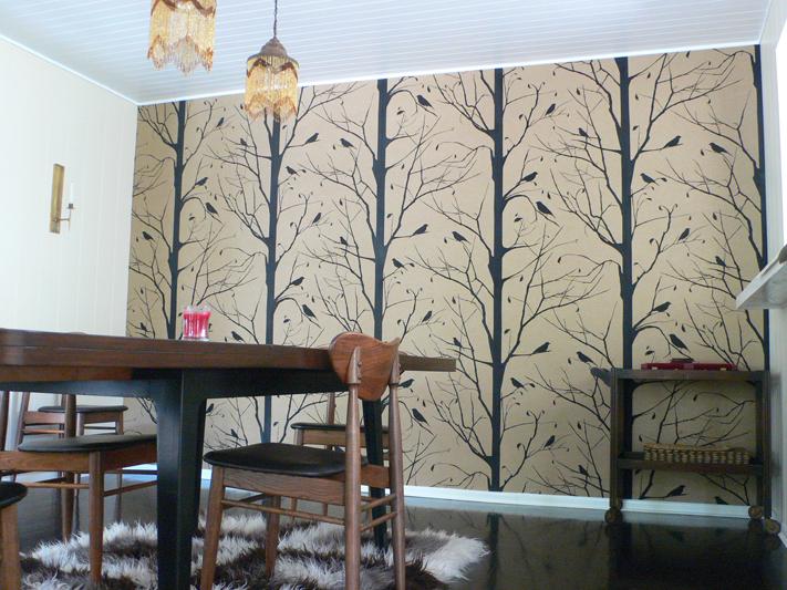 Tree wallpaper interior design center inspiration