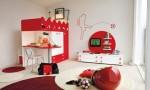 Warm Children Room Ideas Red White Wall Decor