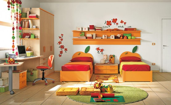 7 Inspiring Kid Room Color Options For Your Little Ones: Warm-Children-Room-Ideas_025
