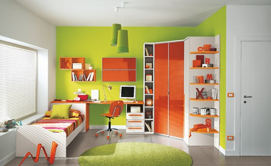 Perfect Orange and Green Kids Bedroom 554 x 339 · 46 kB · jpeg