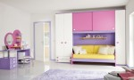 Warm Children Room Ideas White Bright Purple