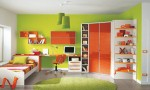 Warm Children Room Ideas Green and Yellow Blend
