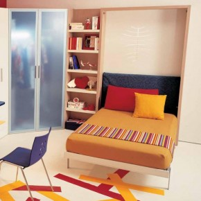Warm White Teen Rooms with Small Space