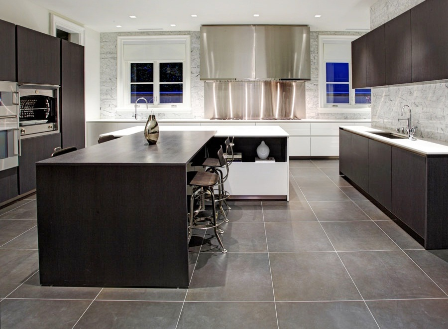 Interior design center inspiration for Dark tile kitchen floor