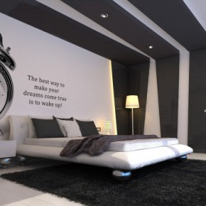 Watch as Wall Decal and Stripe Black and White - Amazing Colorful Bedrooms