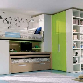 White-Green-Bunk-Bed-Teenage-Girls-Bedroom