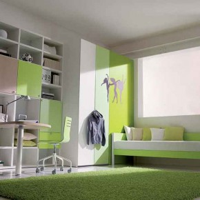 White-Green-Simple-Teenage-Girls-Bedroom