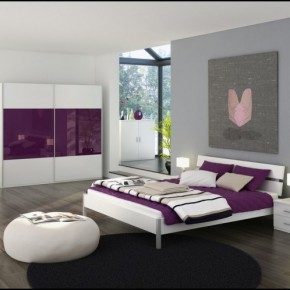 White and Purple Blend Love Bedrooms - Amazing Colorful Bedrooms
