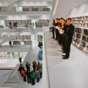A Choir At The Openning  The New Stuttgart City Library  Wallpaper 9