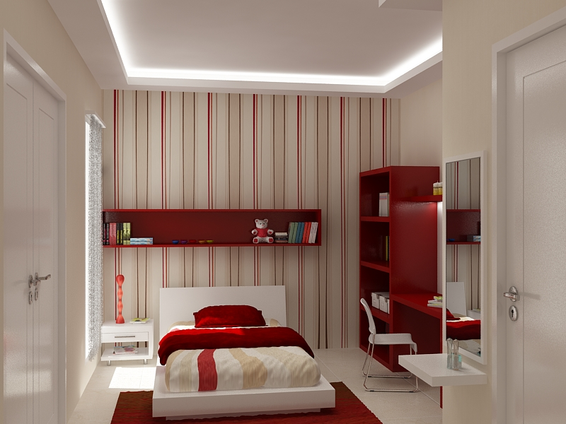 A Girly Room With A Feature Wall Kids Room Inspiration Wallpaper 7 Interior Design Center