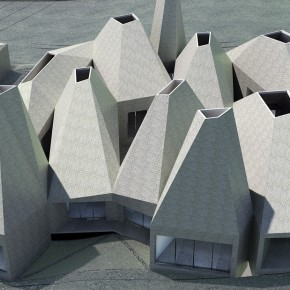 Aerial View 71  40 Revolutionary Housing Concepts from Ordos 100 Photo  7