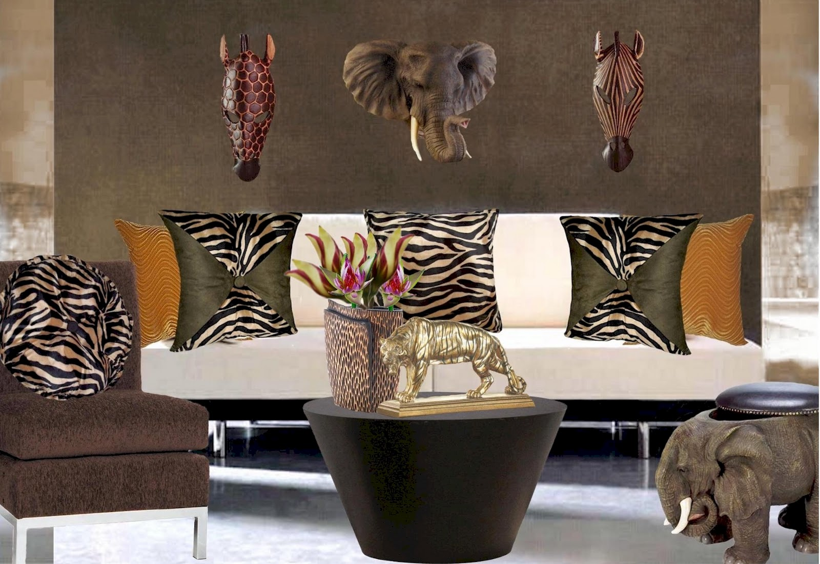 animal print home decor interior design center inspiration
