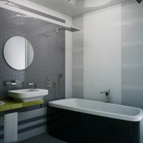 Bath Lighting  Small Apartment Design in St.Petersburgh Photo  11
