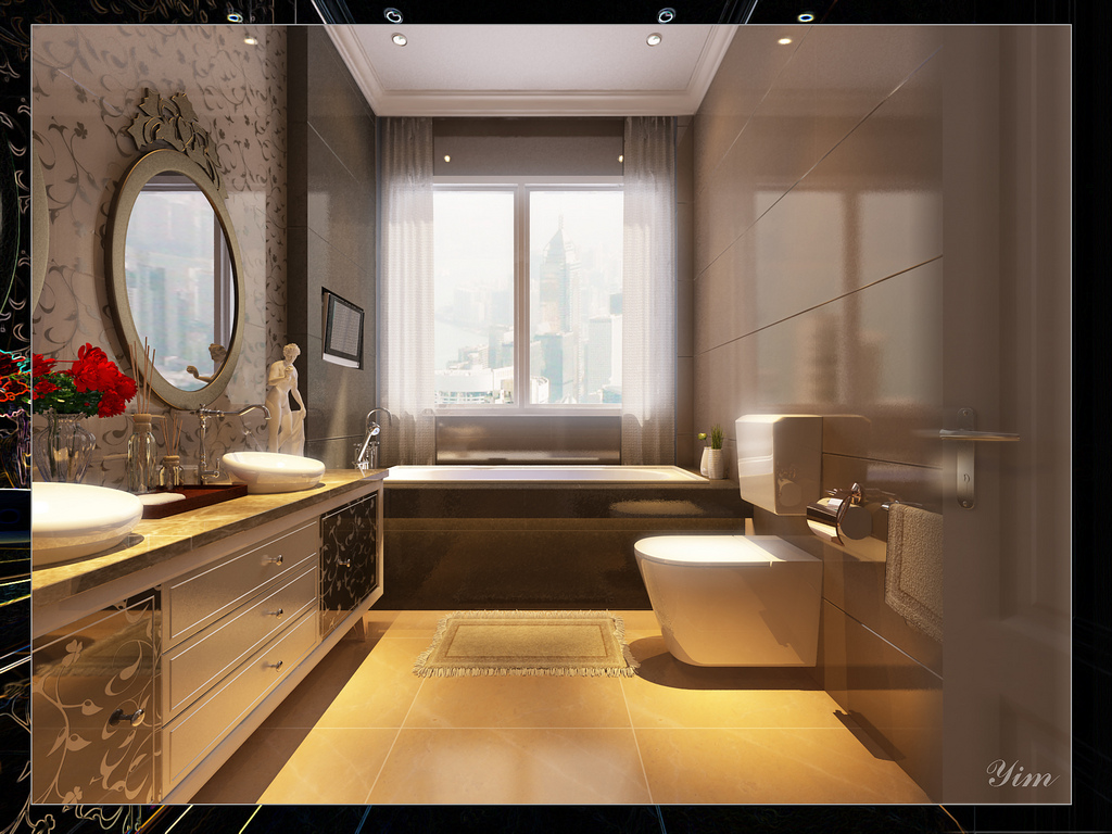 Bathroom With Wonderful Tiling1 Warm And Cozy Rooms Rendered By Yim Lee Photo 11 Interior
