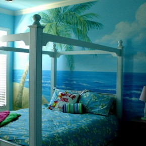 20 ocean bedroom ideas interior design center inspiration for Beach themed mural