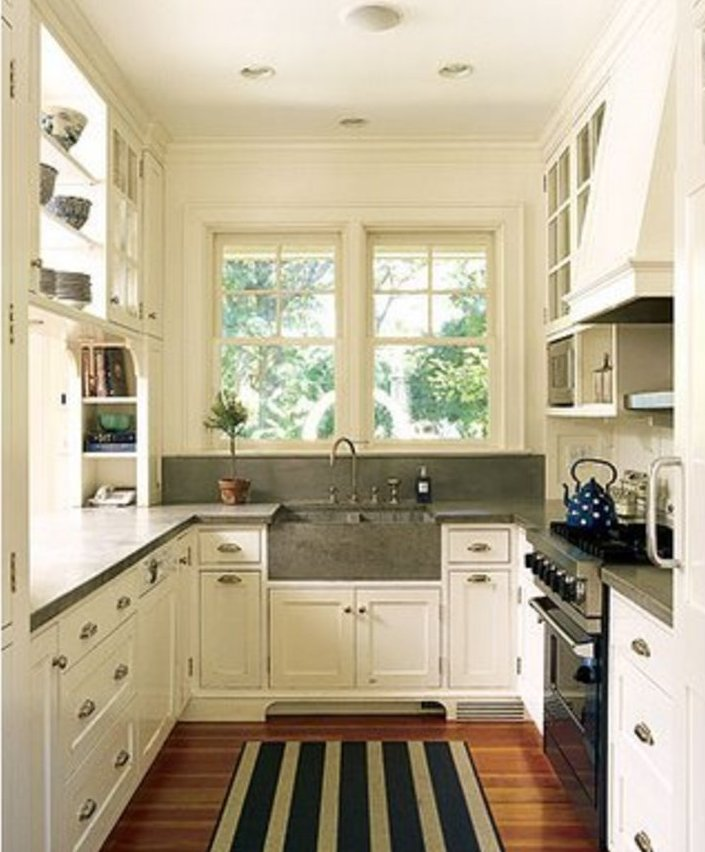 Ideas For Small Spaces Kitchen Cabinets: Beautiful-small-kitchen-cabinets-remodelingnet_kitchen