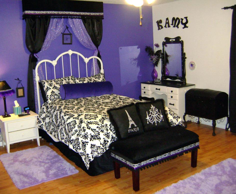 Black And White Bedroom Ideas For Teenage Girls Elegant Queen Teen Girl Bedroom Ideas Theme Combined With Artistic Black Floral White Bed Cover Home Designs Unlimited Reviews Interior Design Center Inspiration