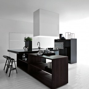 Black And White Kitchen  Modern Kitchens From Elmar Cucine  Picture  1