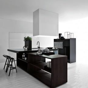Black And White Kitchen  Modern Kitchens From Elmar Cucine  Picture  1