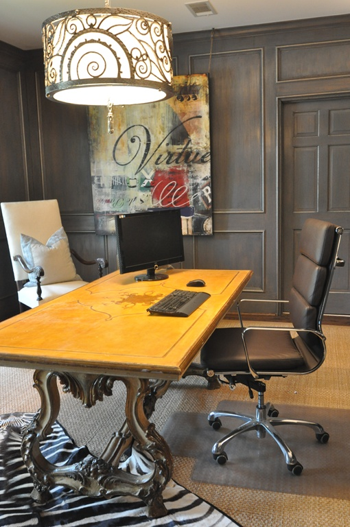 black vintage office interior design center inspiration