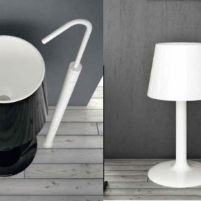 Black White Lamp Basin  Unique Bathrooms by ArtCeram  Wallpaper 10