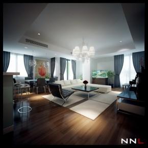 Black White Lounge 665x663  Dream Home Interiors by Open Design Photo  34