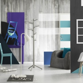 Blue Chair On Wall In Grey Room  Splashes of colour in white interiors  Image  16