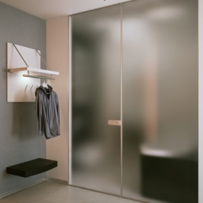 Blurred Bathroom Doors  Small Apartment Design in St.Petersburgh  Wallpaper 10