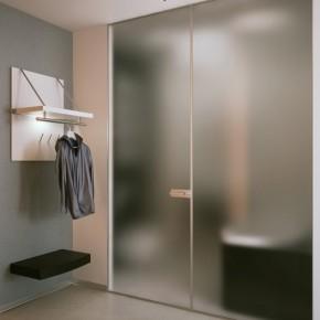 Blurred Bathroom Doors  Small Apartment Design in St.Petersburgh  Wallpaper 10