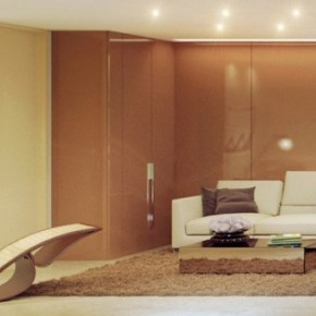Brown Cream Living Room 665x327  Rendered Minimalist Spaces by Rafael Reis  Wallpaper 8