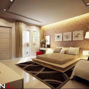 Chic Cream Bedroom  Dream Home Interiors by Open Design Photo  33