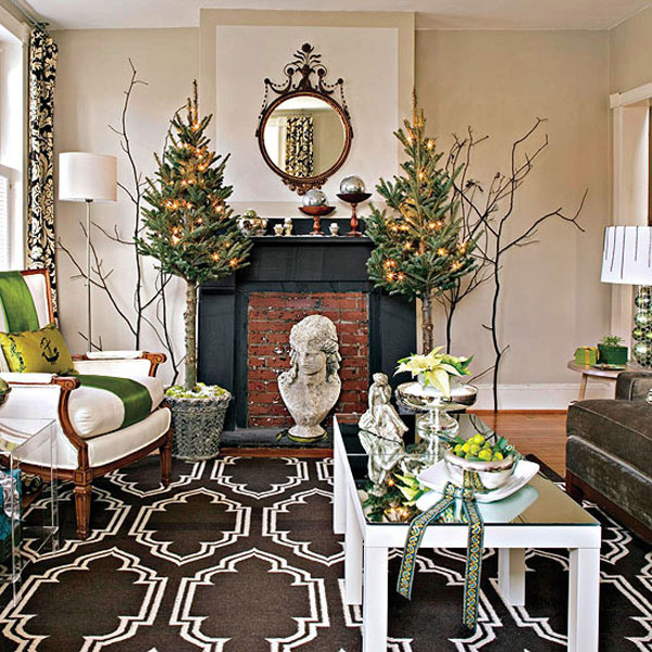 Beautiful Christmas Decorations For Your Living Room: Christmas Living Room 14 33 Christmas Decorations Ideas