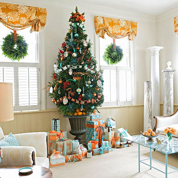 Christmas living room 18 33 christmas decorations ideas bringing the christmas spirit into your - Awesome christmas living room decorating ideas ...