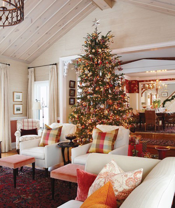 Christmas living room 26 33 christmas decorations ideas Christmas decorations interior design