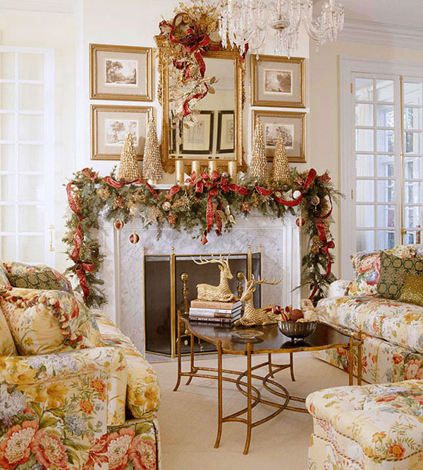 Christmas living room 3 33 christmas decorations ideas Christmas decorations interior design