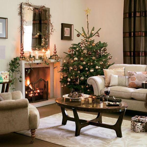 Christmas living room 33 33 christmas decorations ideas for Christmas decorating ideas living room