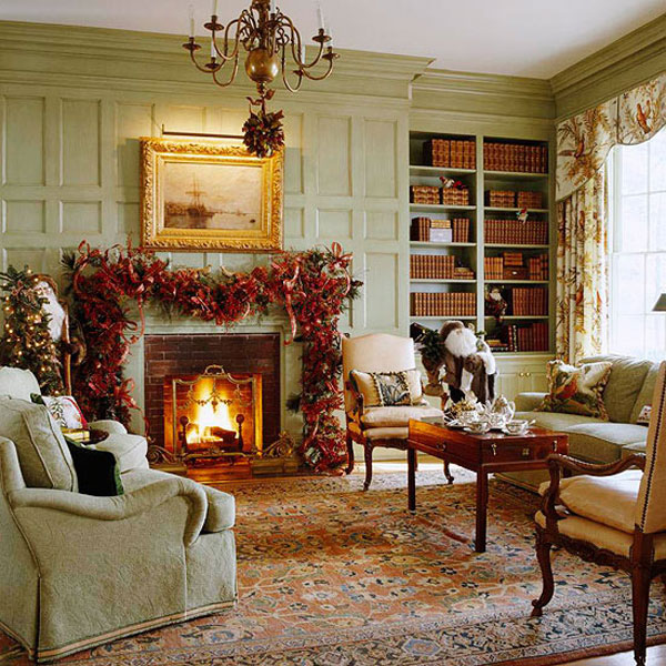 Christmas living room 4 33 christmas decorations ideas for Decoration 4