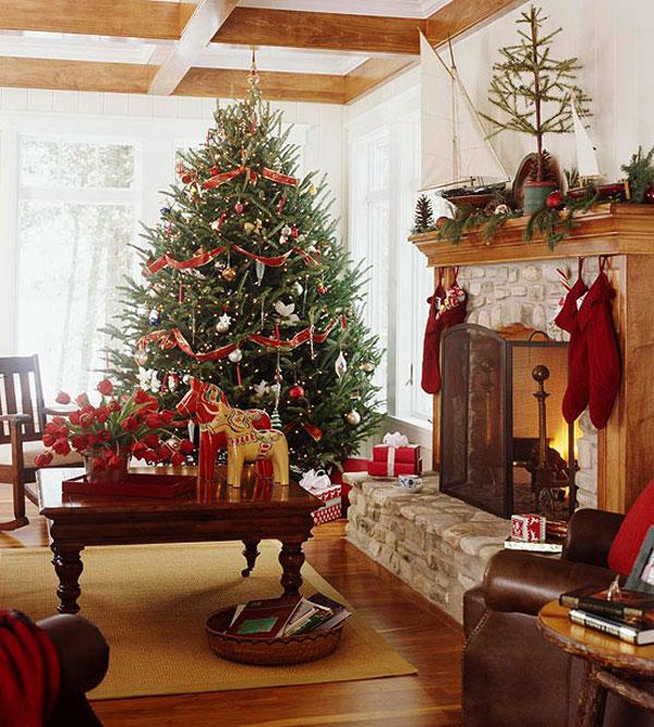 Christmas living room 7 33 christmas decorations ideas for Christmas spirit ideas