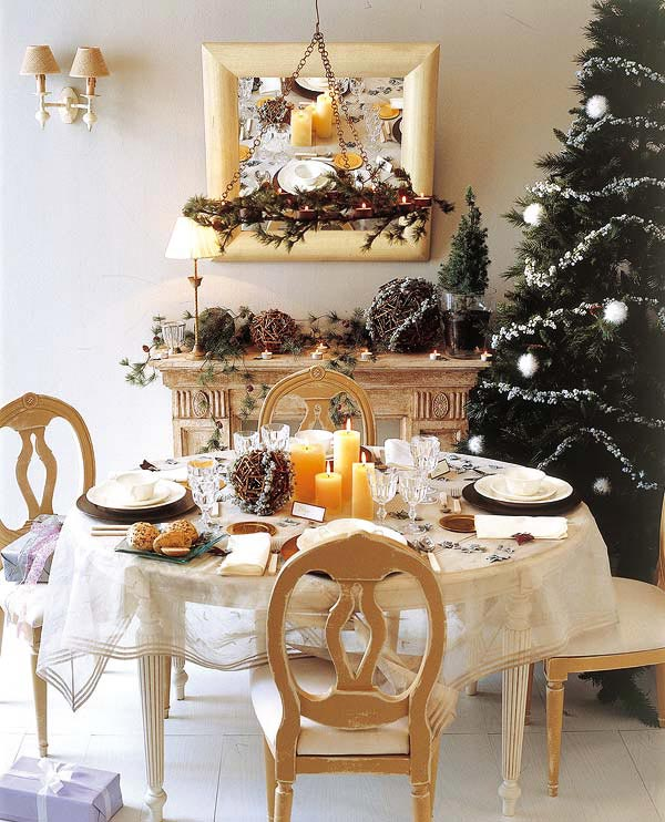 Christmas Table Decor 18 Christmas Dinner Table Decoration Ideas Image 1